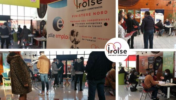 Photos du forum emploi organisé par Iroise lors de la Journée de l'Emploi Partagé